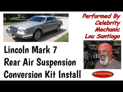 1984-1992 Lincoln Mark VII Rear Air Spring Conversion Installation