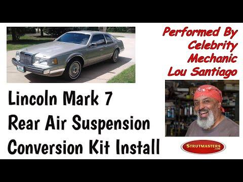 1984-1992 Lincoln Mark VII Rear Air Spring Conversion Installation