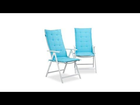 Gartenstuhlauflage 2er Set in blau