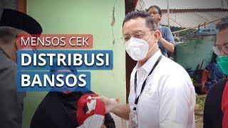 Hari Pertama Masuk Kerja, Mensos Turun Lapangan Cek Distribusi Bansos di Sawangan Baru