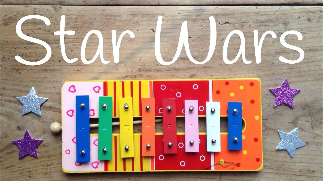 Cómo tocar la Marcha Imperial de STAR WARS  | Canciones con XILÓFONO para niños