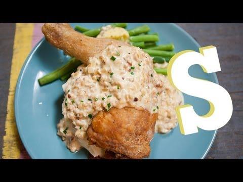 Kuře s oříškovou omáčkou