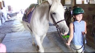 First Horseback Riding Lesson At A New Stable! | Crazy8Family