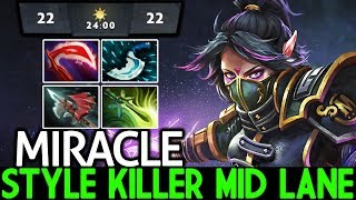 MIRACLE [Templar Assassin] Style Killer Mid Outplays Pub Game 7.23 Dota 2