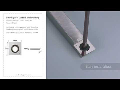 FindBuyTool Карбид Вудтурнинг Вставка Cutter 15 х 15 х 2,5 мм-30