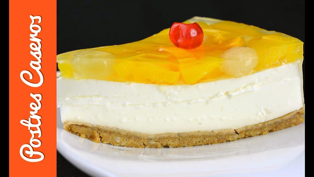 Cheesecake de melocotón en almíbar | Javier Romero