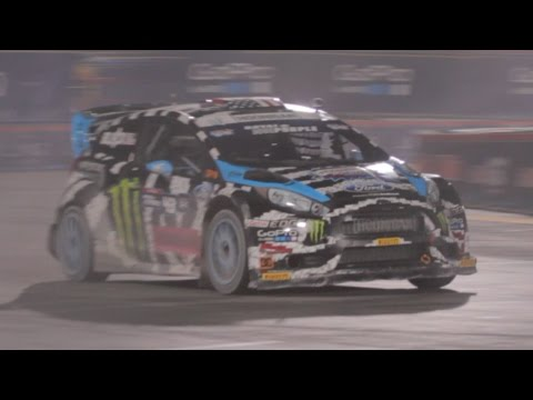 Ken Block and his Flying Ford Fiesta at #SEMA2014