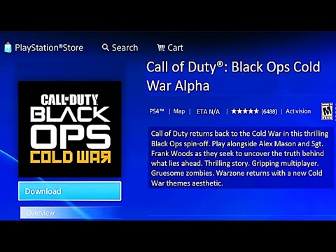 Black Ops Cold War Ps4 Alpha Download Leaked Call Of Duty 2020 Black Ops Cold War Download Now
