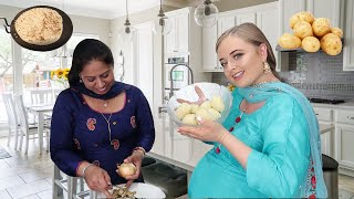 COOKING ALOO PARATHA WITH MY INDIAN MOTHER IN LAW | Dhaba Style Aloo Paratha