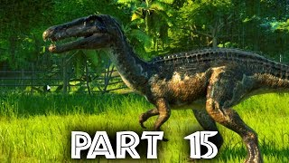 Jurassic World Evolution Gameplay Walkthrough Part 15 - FALLEN KINGDOM DLC - Baryonyx