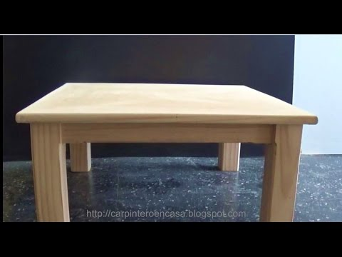 COMO HACER UNA MESA DE MADERA   - WOODEN TABLE - PART 2