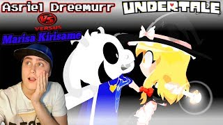 Asriel Dreemurr Vs Marisa Kirisame - (Undertale Vs Touhou) Animation | REACTION