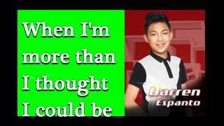 [FULL VERSION] Darren Espanto - One Moment in Time (Lyrics)