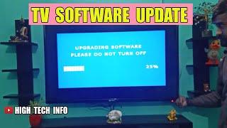 HOW TO UPDATE / UPGRADE TV SOFTWARE - TV FIRMWARE UPDATE