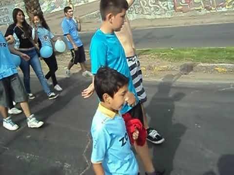 """bajada de la plaza hinchada iquiqueña 2012"" Barra: Furia Celeste • Club: Deportes Iquique"
