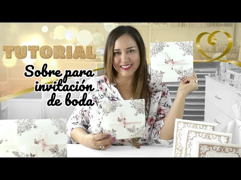 Sobre para invitación de boda paso a paso - Claudia Rafaella