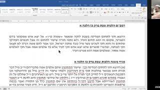 """הלכות שבת-עירובין: ע""""פ הרמב""""ם היומי - הלכות תלמוד שבת פרק כז הלכה א"""