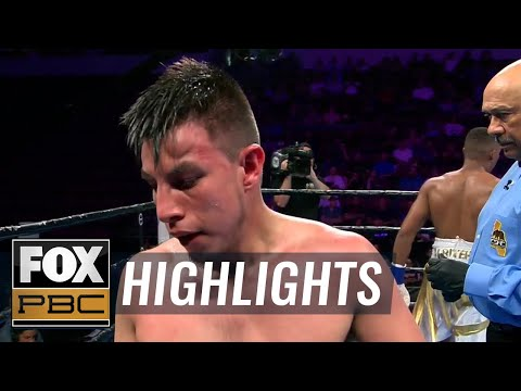 Jose Luis Gallegos suffers hematoma, early stoppage loss to Michel Rivera | HIGHLIGHTS | PBC ON FOX