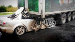 ДТП на Полтавщине: Mazda 6 Влетела под Фуру. Кадры Погибших.