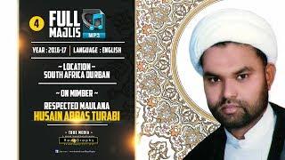 Maulana Husain Abbas Turabi | 03 Majlis | 2016-17 | MP3 only