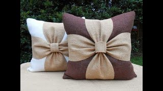 Beautiful Flower Cushion Cover Cutting And Stitching   DIY   Home Decor