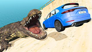 BeamNG Drive Craziest Mods - Randomly Selected Parts Cars Madness Jumping and Crashes   Good Cat