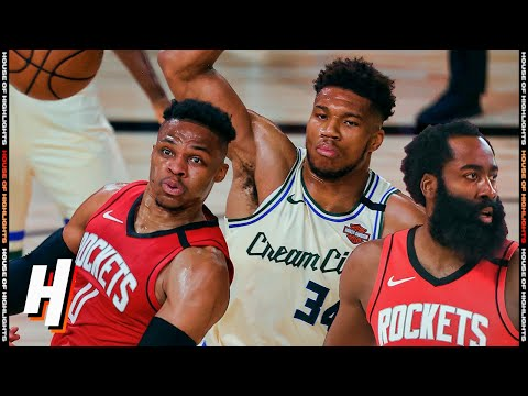 Milwaukee Bucks vs Houston Rockets – Full Game Highlights | August 2, 2020 | 2019-20 NBA Season