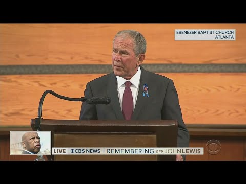 Full Video: President George W. Bush speaks at John Lewis funeral