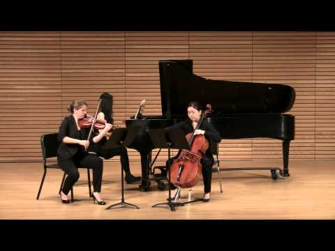 I love performing this piano trio, it is so carefree but also exciting!