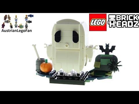 Vidéo LEGO BrickHeadz 40351 : Le fantôme d'Halloween