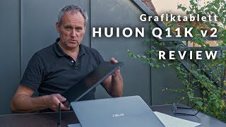 Grafiktablett Huion Q11K v2 - Review / Testbericht