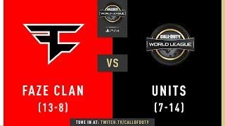 FaZe Clan vs UNITS   CWL Pro League 2019   Cross-Division   Week 11   Day 4