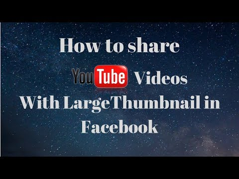 How To share Youtube Videos With Large Thumbnail in Facebook   DigitalRakesh