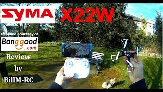 Syma X22W WiFi FPV RC Quadcopter drone - Full Review