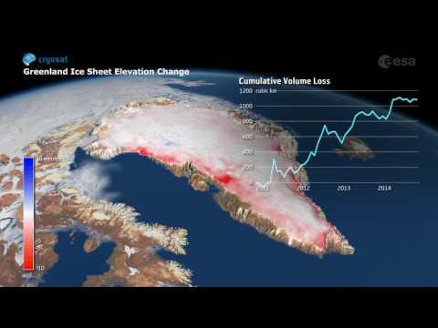 CryoSat håller koll på Grönlands istäcke