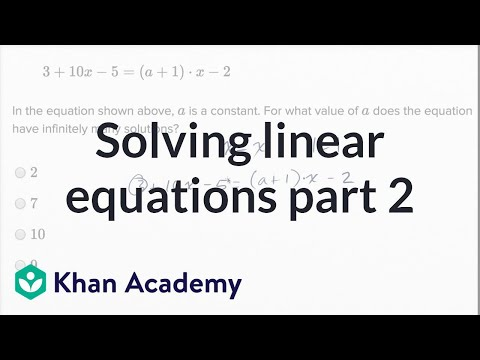 Solving linear equations and linear inequalities — Harder