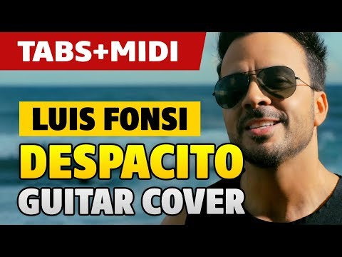 Despacito fingerstyle guitar cover (lesson with tabs & chords)
