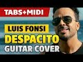 Luis Fonsi (ft. Daddy Yankee) - Despacito (Fingerstyle Guitar Cover with Tabs and Midi)