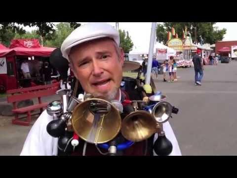 One man band Eric Haines at the fair