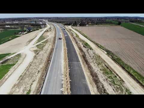 Planowana droga S19 odc. 3 obwodnica m. Kraśnik - widok lotniczy   kwiecień 2021 r.