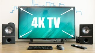 Best 4K TV for a Computer Monitor! - Sony 43X720E