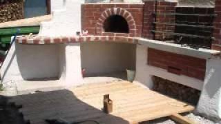 pizzaofen lehmofen r ucherofen grill youtube. Black Bedroom Furniture Sets. Home Design Ideas