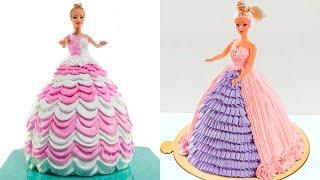 How To Make Princess Cake For Girls Birthday | Amazing Barbie Doll Cake Decorating Ideas #8