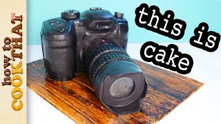 3D Camera Cake but will it Survive a plane trip?  How To Cook That Ann Reardon