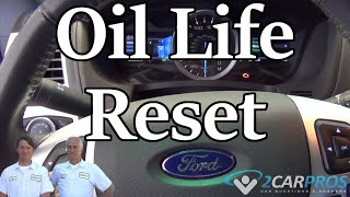 2018 ford focus oil life reset