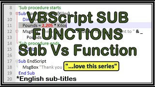 VBScript Sub and Function procedures - tutorial 2