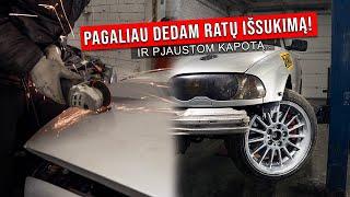 BMW E46 GAVO RATŲ IŠSUKIMĄ / PJAUSTOM KAPOTĄ?! | VLOGAS