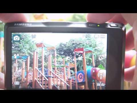 Samsung ST1000 has GPS, bluetooth, wi-fi. you can make a geotag trip.