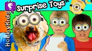 HobbyDog Hunts Lost MINION! Toy Surprise Adventure Eggs by HobbyKidsTV