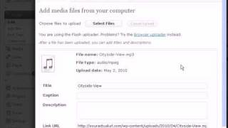 Inserting Audio Or MP3 Files Into WordPress